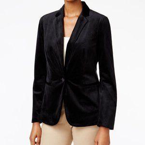 Charter Club Petite Velvet One-Button Blazer,  10P